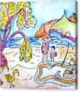 Beach Picnic Canvas Print