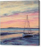 Beached At Sunset Canvas Print