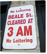 Beale Street Sign Canvas Print