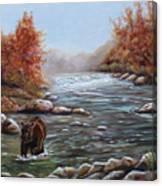 Bear In Fall Canvas Print