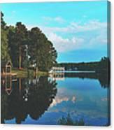Beautiful Bunn Lake - Zebulon, North Carolina Canvas Print