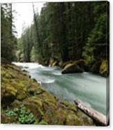 Beautiful White Water Canvas Print