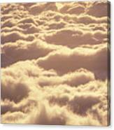Bed Of Puffy Clouds Canvas Print