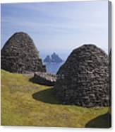 Beehive Stone Huts, Skellig Michael, County Kerry, Ireland Canvas Print