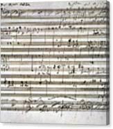 Beethoven Manuscript Canvas Print