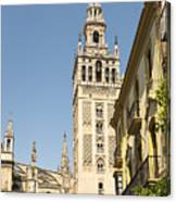 Bell Tower - Cathedral Of Seville - Seville Spain Canvas Print