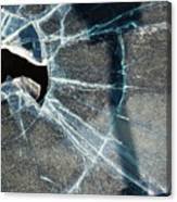 Belmont Cracked Window And Shadow 1599 Canvas Print