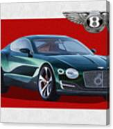 Bentley E X P  10 Speed 6 With  3 D  Badge  Canvas Print