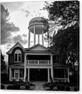 Bentonville Arkansas Water Tower - Black And White Canvas Print