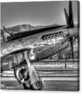 Betty Jane P51d Mustang At Livermomre Canvas Print