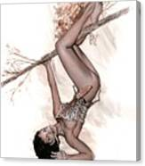 Betty Jungle Girl Canvas Print