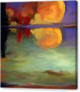 Beyond Sunset Pond Canvas Print