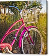 Bicycle At The Beach II Canvas Print