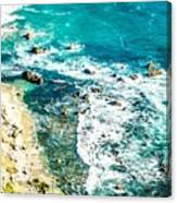 Big Sur California Coastline On Pacific Ocean Canvas Print