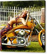 Bikes And Babes Canvas Print