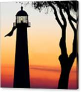 Biloxi Lighthouse At Dusk Canvas Print