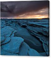Bisti Fissure New Mexico Canvas Print