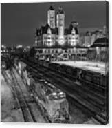 Black And White Fine Art Print Of Union Station In Nashville, Tennessee Canvas Print
