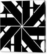 Black And White Geometric Canvas Print