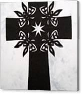 Black Butterfly-cross Canvas Print