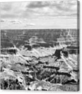 Black Grand Canyon  Canvas Print