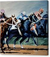 Black To Win Canvas Print