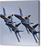 Blue Angels In Review Canvas Print