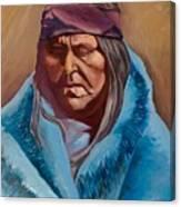 Blue Blanket Canvas Print