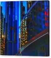 Blue Cityscape Canvas Print