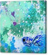 1 Blue Fish Canvas Print