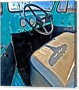 Blue Ford Pickup Truck Canvas Print