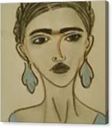 Blue Frida Canvas Print