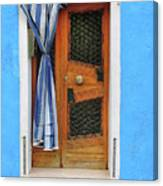 Blue In Burano Canvas Print