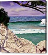 Blue Lagoon Rocks Canvas Print