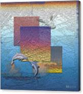 Blue Lagoon Sunrise  Canvas Print