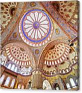 Blue Mosque Interior Canvas Print