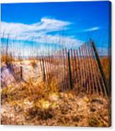 Blue Sky Over The Dunes Canvas Print