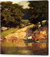 Boating In Central Park Edward Henry Potthast Canvas Print