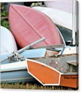 Boats Boats And More Boats Canvas Print