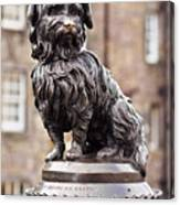 Bobby Statue, Edinburgh, Scotland Canvas Print