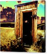 Bodie Outhouse Canvas Print