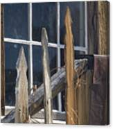 Bodie Picket Fence And Window Canvas Print