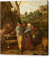Boer Fisticuffs Canvas Print