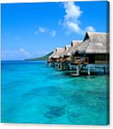 Bora Bora Lagoon Resort Canvas Print