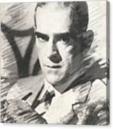 Boris Karloff, Vintage Actor Canvas Print