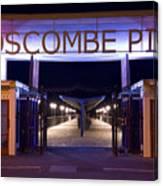 Boscombe Pier At Night Canvas Print