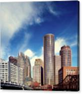 Boston Skyline 1980s Canvas Print