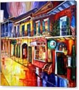 Bourbon Street Red Canvas Print
