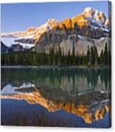 Bow Lake And Crowfoot Mountain Canvas Print