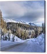 Bow Valley Parkway Winter Conditions Canvas Print